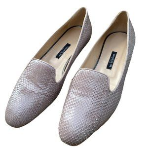 Lafayette 148 Sienna Snake Embossed Loafers Flats